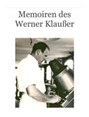 Memoiren des Werner Klaußer