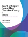 Board Of County CommRs Of Cherokee County V Smith