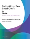 Butte-Silver Bow Local Govt V State