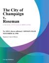 The City Of Champaign V Roseman