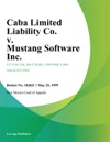 Caba Limited Liability Co V Mustang Software Inc