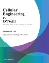 Cellular Engineering V Oneill