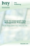 Acer Incorporated Core Management Principles