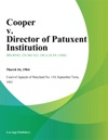 Cooper V Director Of Patuxent Institution