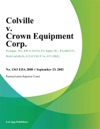 Colville V Crown Equipment Corp
