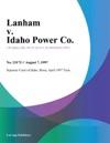 Lanham V Idaho Power Co