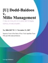 U Dodd-Baidoos V Milio Management