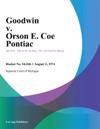 Goodwin V Orson E Coe Pontiac