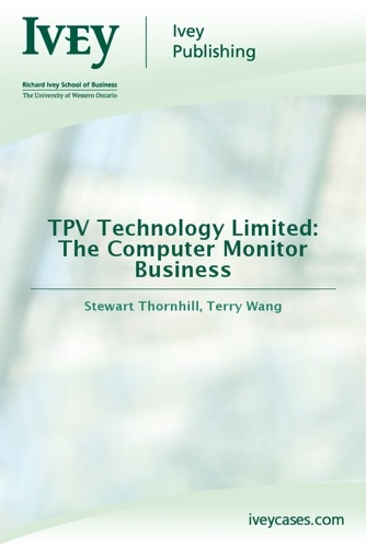 TPV Technology Limited The Computer Monitor Business