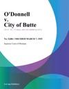 Odonnell V City Of Butte