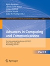 Advances In Computing And Communications Part III