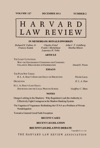 Harvard Law Review Volume 127 Number 2 - December 2013
