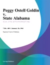 Peggy Ostell Goldin V State Alabama