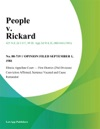People V Rickard