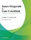 James Fitzgerald V Gale Critchfield