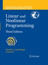 Linear And Nonlinear Programming