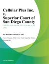 Cellular Plus Inc V Superior Court Of San Diego County