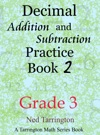 Decimal Addition And Subtraction Practice Book 2 Grade 3