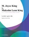 M Joyce King V Malcolm Leon King