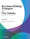 Keystone-Fleming Transport V City Tahoka