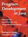 Program Development In Java Abstraction Specification And Object-Oriented Design