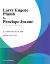 Larry Eugene Plumb V Penelope Jeanne