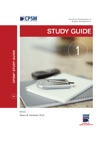 CPSM Study Guide For Exam 1