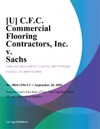 U CFC Commercial Flooring Contractors Inc V Sachs