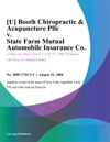 U Booth Chiropractic  Acupuncture Pllc V State Farm Mutual Automobile Insurance Co
