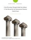Crisis Prevention Through Global Surveillance A Task Beyond The Imf International Monetary Fund Essay