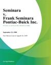 Seminara V Frank Seminara Pontiac-Buick Inc