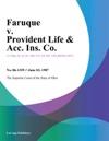Faruque V Provident Life  Acc Ins Co