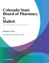 Colorado State Board Of Pharmacy V Hallett