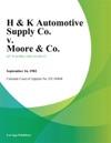 H  K Automotive Supply Co V Moore  Co
