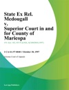 State Ex Rel Mcdougall V Superior Court In And For County Of Maricopa