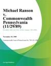 Michael Ranson V Commonwealth Pennsylvania