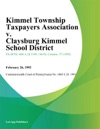 Kimmel Township Taxpayers Association V Claysburg Kimmel School District