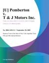 U Pemberton V T  J Motors Inc
