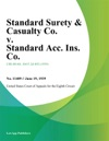 Standard Surety  Casualty Co V Standard Acc Ins Co