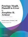Penelope Mcgill Plaintiff In Error V Josephine H Armour