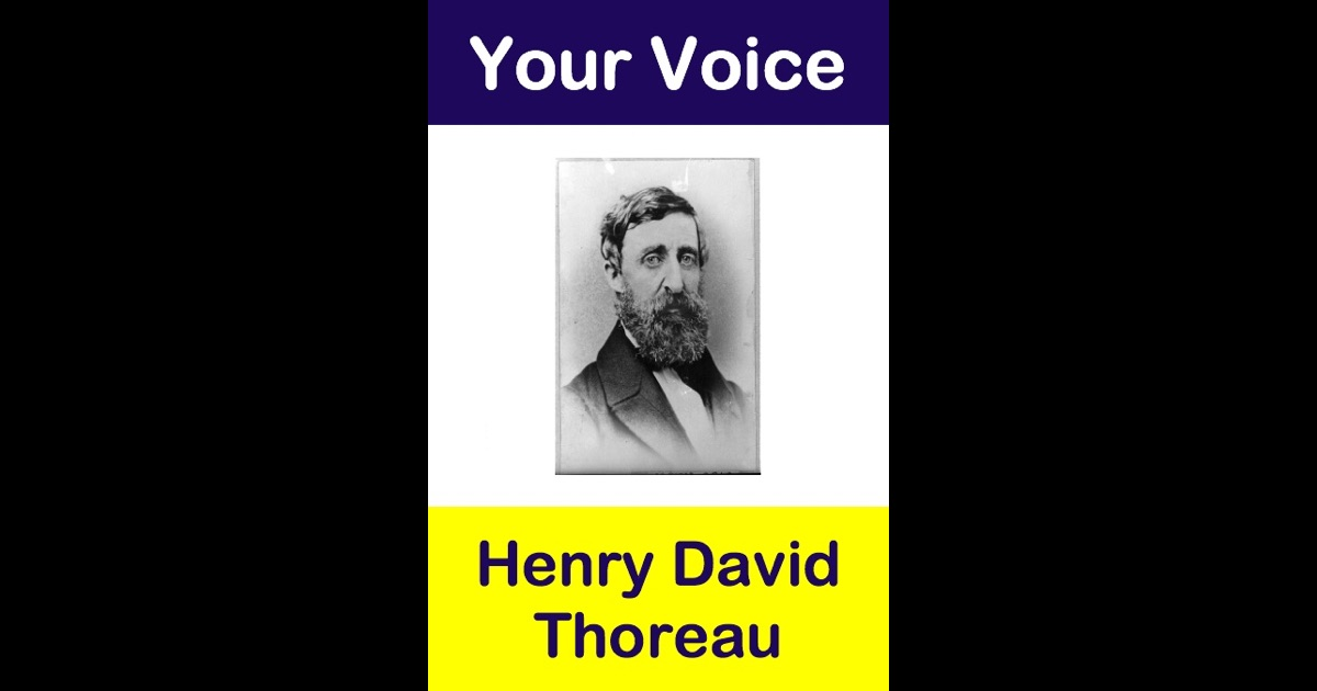henry david thoreau the voice of the people
