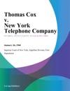 Thomas Cox V New York Telephone Company