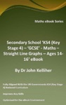 Secondary School KS4 Key Stage 4  GCSE - Maths  Straight Line Graphs  Ages 14-16 EBook