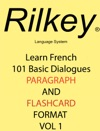 Learn French 101 Dialogues Paragraph Flashcard Format
