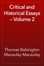 macaulay critical and historical essays vol 2