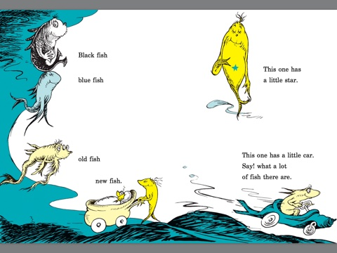 One fish two fish red fish blue fish by dr seuss on ibooks for Red fish blue fish book