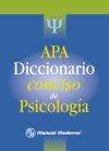 APA Diccionario Conciso De Psicologa