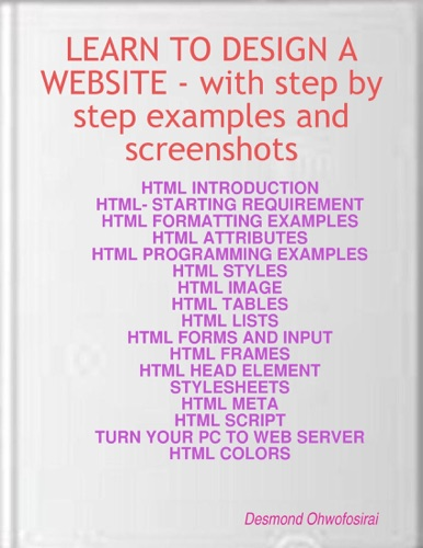 Learn to Design a Website  with HTML Examples  Screen Shots