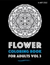 Flower Coloring Book For Adults Vol 3
