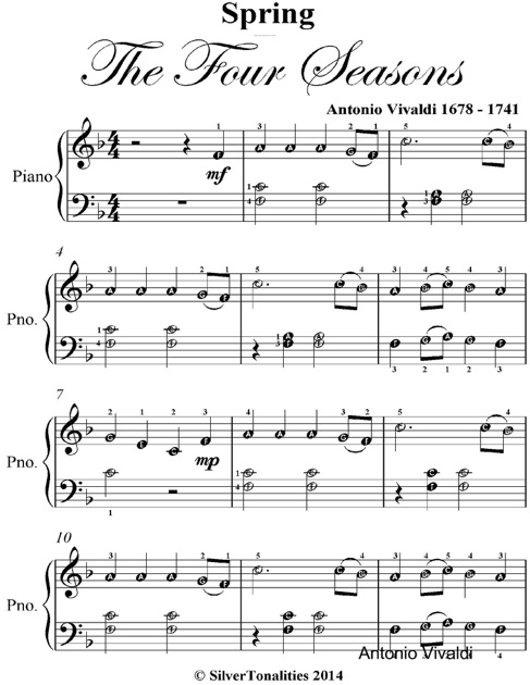 vivaldi four seasons sheet music pdf
